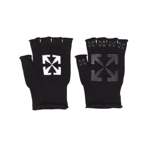 Off-White Fingerlose Handschuhe mit Logo - Schwarz Male regular