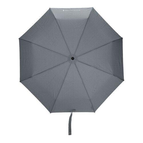 Mackintosh Faltbarer Ayr Regenschirm mit Vichy-Karo - Schwarz Unisex regular