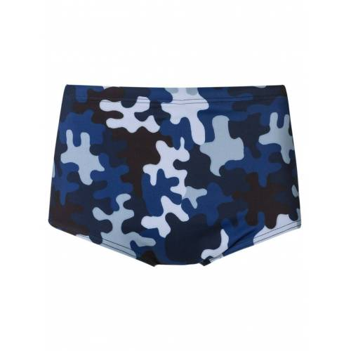 Amir Slama Badehose mit Camouflage-Print - Blau Male regular