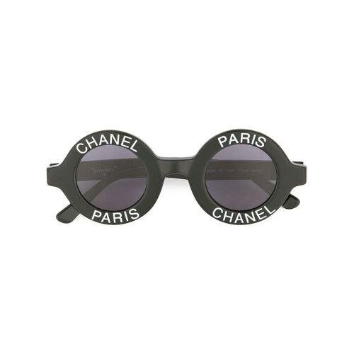 Chanel Pre-Owned Sonnenbrille mit CC-Logo - Schwarz Male regular