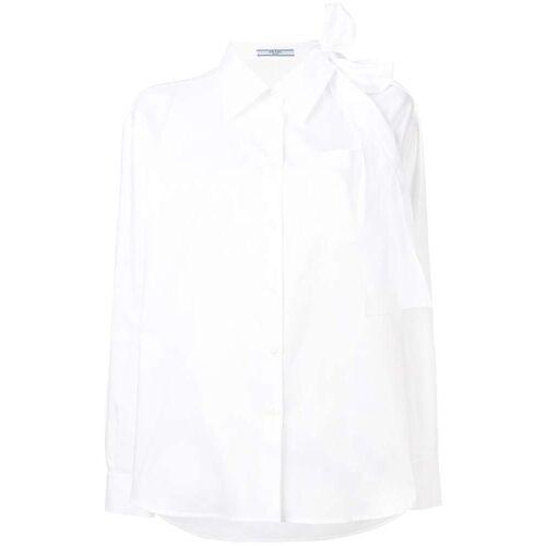 Prada Bluse mit Cut-Out - Weiß Male regular