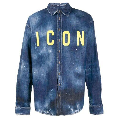Dsquared2 'Icon' Jeanshemd - Blau Male regular