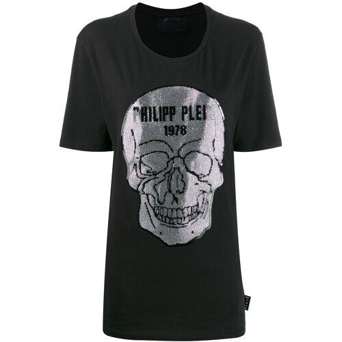 Philipp Plein T-Shirt mit Kristall-Totenkopf - Schwarz Male regular