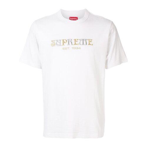 Supreme T-Shirt mit Logo-Stickerei - Weiß Male regular