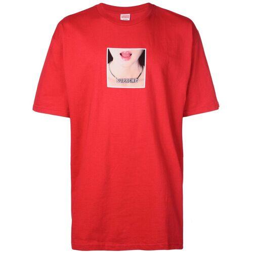 Supreme T-Shirt mit Halsketten-Print - Rot Male regular