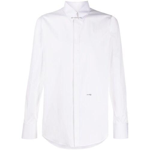 Dsquared2 Schmales Hemd mit Kragennadel - Weiß Male regular