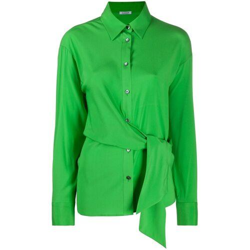 P.A.R.O.S.H. Hemd mit Schleifenverschluss - Grün Male regular