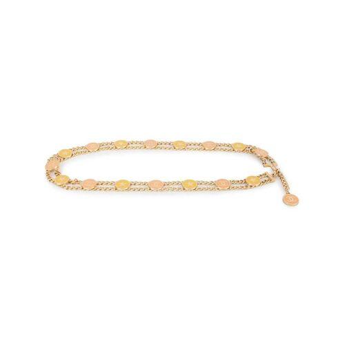 Chanel Pre-Owned Gürtel mit CC-Anhänger - Gold Male regular