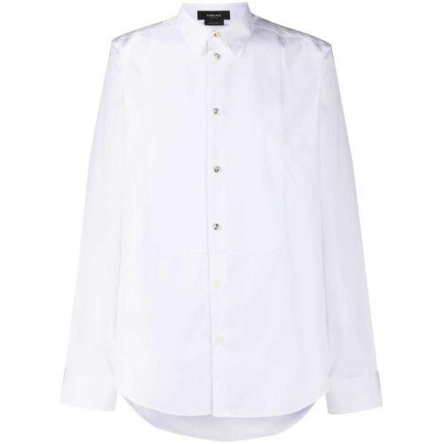 Versace Hemd mit Kristallknöpfen - Weiß Male regular