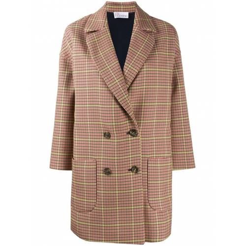 RED Valentino Mantel mit Hahnentrittmuster - Nude Male regular