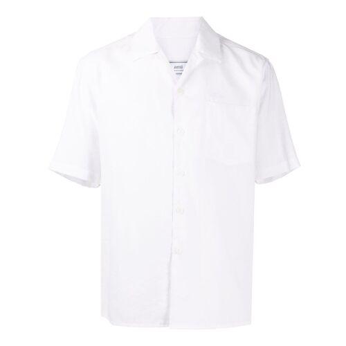 AMI Paris Hemd mit kubanischem Kragen - Weiß Male regular