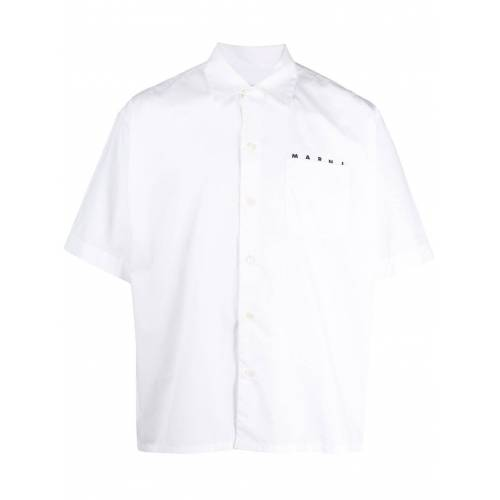 Marni Hemd mit kubanischem Kragen - Weiß Male regular
