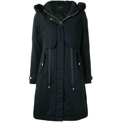 TWINSET Mantel mit Faux-Fur-Besatz - Schwarz Male regular