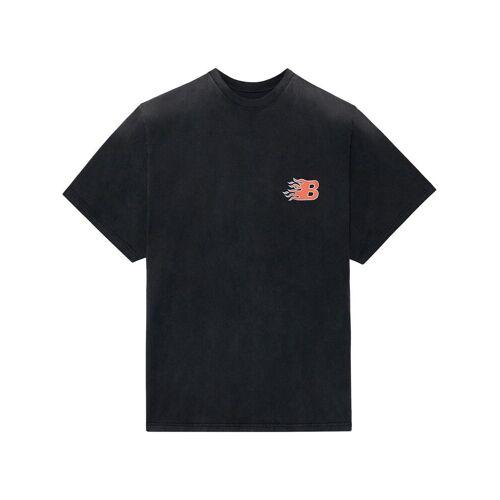 Balenciaga Umgedrehtes T-Shirt - Schwarz Male regular