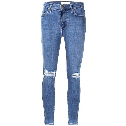 Nobody Denim Skinny-Jeans im Disstressed-Look - Blau Male regular