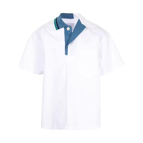 Kolor Hemd mit Kontrastkragen - Weiß Male regular