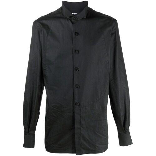 Balmain Hemd mit Kläppchenkragen - Schwarz Male regular