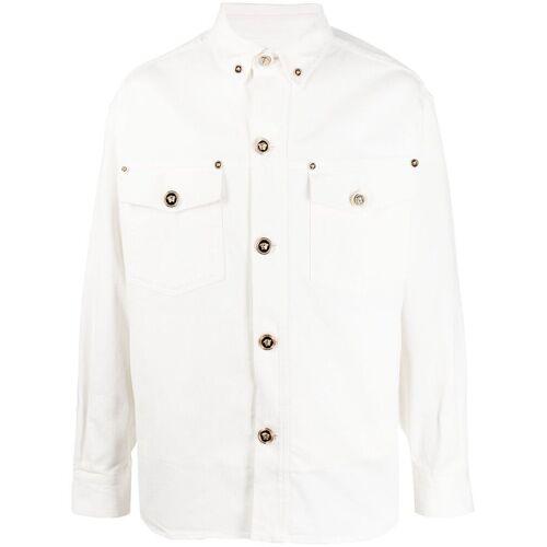 Versace Lange Jeansjacke - Weiß Male regular