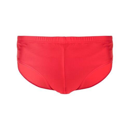Versace Badehose mit Logo-Print - Rot Male regular