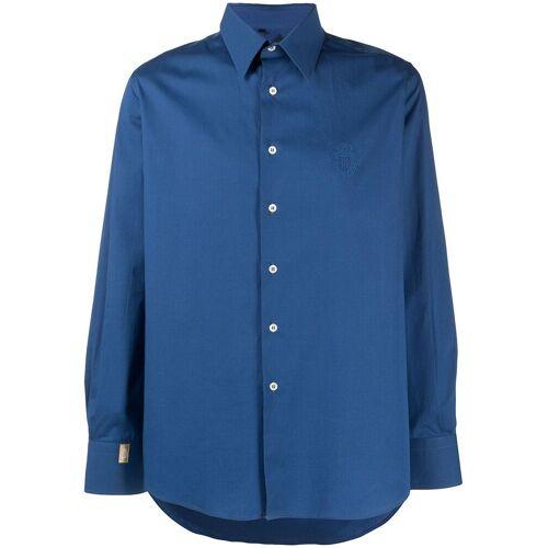 Billionaire Hemd mit Logo-Wappen - Blau Male regular