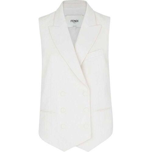 Fendi Ärmellose Jacke - Weiß Male regular