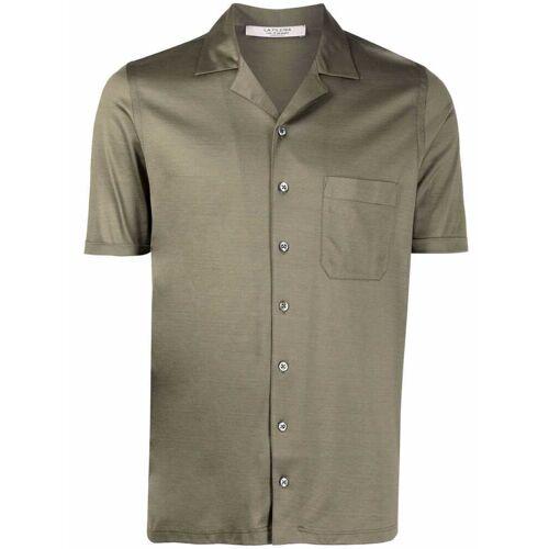 D4.0 Hemd mit kubanischem Kragen - Grün Male regular