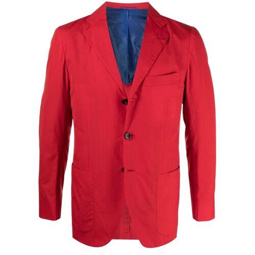 Kiton Einreihiges Sakko - Rot Male regular