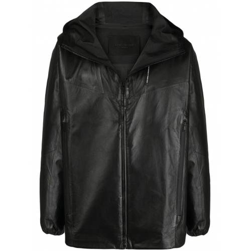 Givenchy Lederjacke mit Kapuze - Schwarz Male regular
