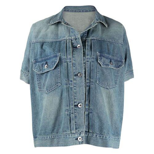 Sacai Kurzärmelige Jeansjacke - Blau Male regular