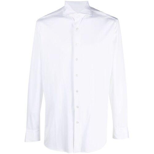 Lardini Schmales Hemd - Weiß Male regular