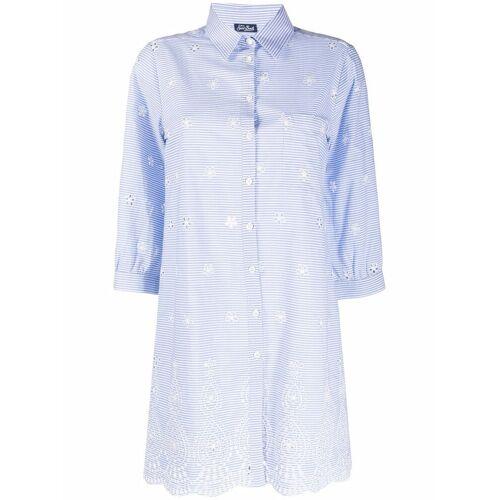 Mc2 Saint Barth Helena Hemd mit Stickerei - Blau Male regular