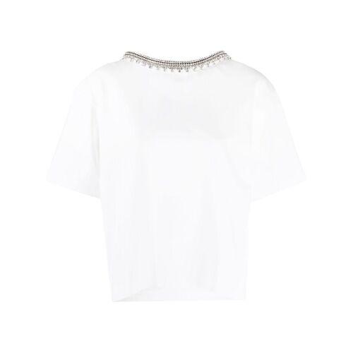AREA Rückenfreie Bluse mit Kristallen - Weiß Male regular