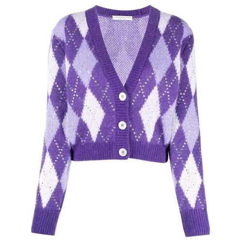 Alessandra Rich Cardigan mit Kristallen - Violett Male regular
