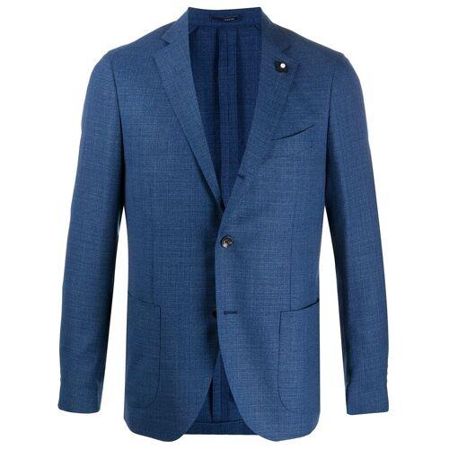 Lardini Sakko mit Anstecknadel - Blau Male regular