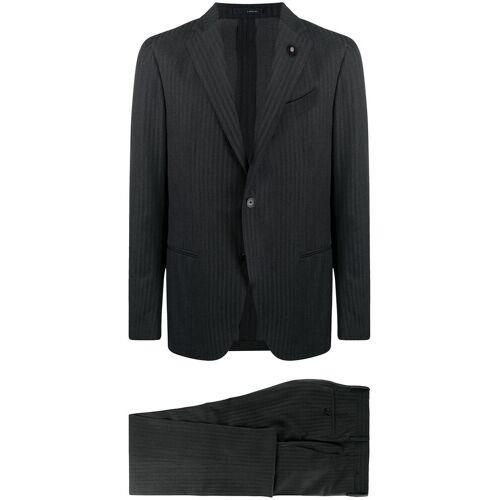 Lardini Zweiteiliger Anzug mit Streifen - Grau Male regular