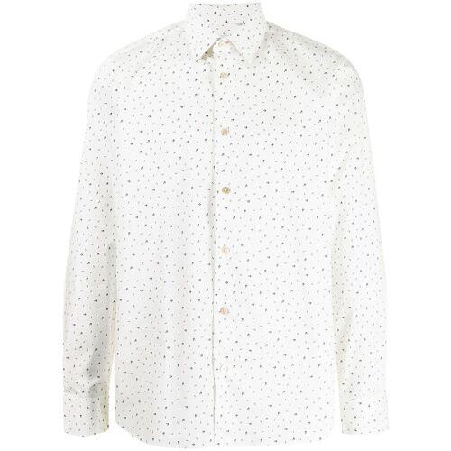 PAUL SMITH Hemd mit Musiknoten-Print - Weiß Male regular