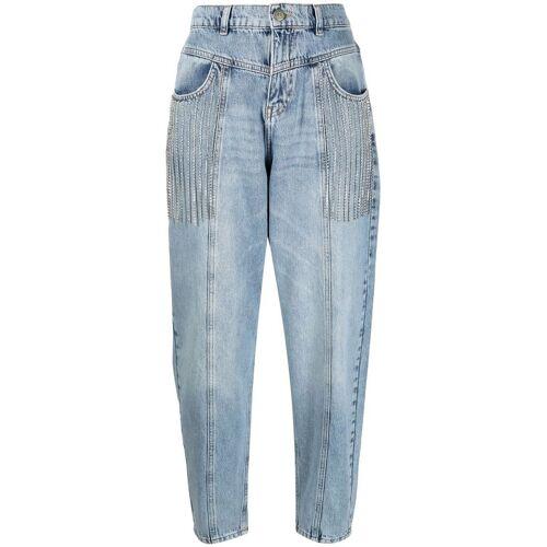 TWINSET Tapered-Jeans mit hohem Bund - Blau Male regular