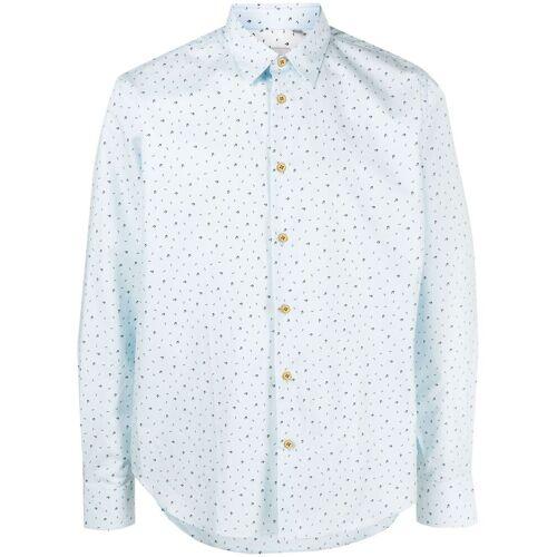 PAUL SMITH Hemd mit Musiknoten-Print - Blau Male regular