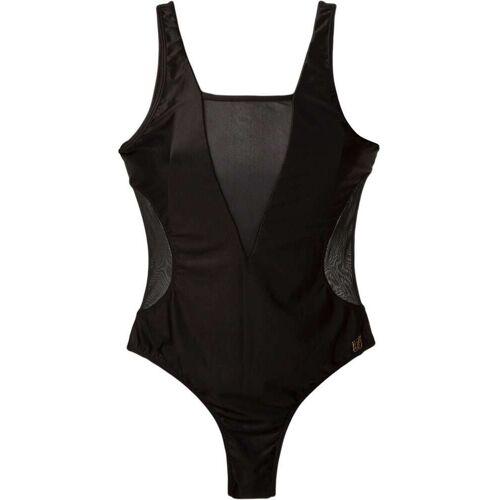 Brigitte Badeanzug mit semi-transparenten Einsätzen - Schwarz Female regular