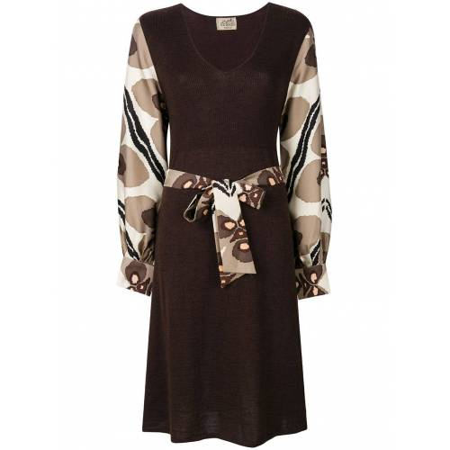 Hermès Pre-owned Kleid mit Gürtel - Braun Male regular