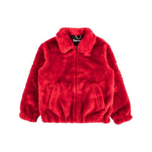 Supreme 'Supreme' Faux-Fur-Bomberjacke - Rot Female regular