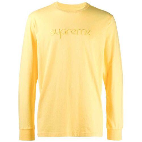 Supreme Pullover mit Logo-Stickerei - Gelb Female regular