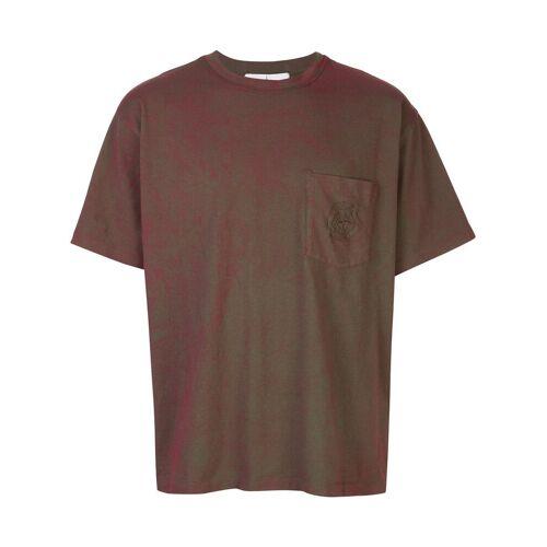 Supreme Supreme x Stone Island T-Shirt mit Tasche - Rot Female regular