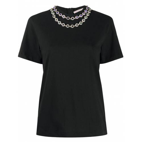 Christopher Kane T-Shirt mit Kristallblumen - Schwarz Female regular