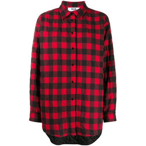 MSGM plaid button-front shirt - Rot Unisex regular