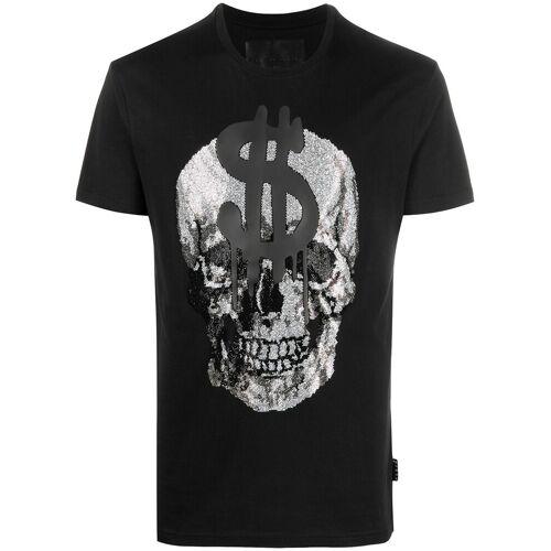 Philipp Plein T-Shirt mit Kristall-Totenkopf - Schwarz Female regular