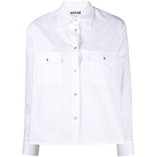 Koché Hemd mit Cut-Outs - Weiß Female regular