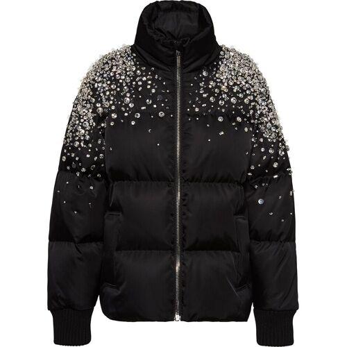 Miu Miu Gefütterte Jacke mit Kristallen - Schwarz Unisex regular