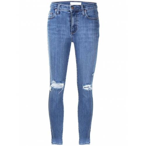 Nobody Denim Skinny-Jeans im Disstressed-Look - Blau Unisex regular