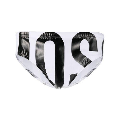 Moschino Badehose mit Logo-Print - Weiß Female regular
